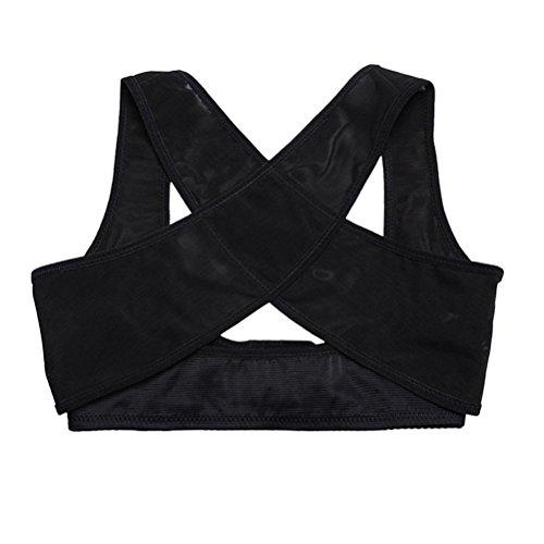 ROSENICE Faja para Espalda Corrector de Postura Espalda Mujer Soporte de Espalda Ajustable Negro Talla M