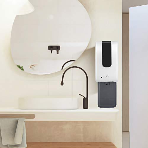 TTLIFE Dispenser Sapone Automatico 1200ML con Vassoio antigoccia Dispenser di Sapone a Goccia touchless per Gel monouso/disinfettante per Le Mani