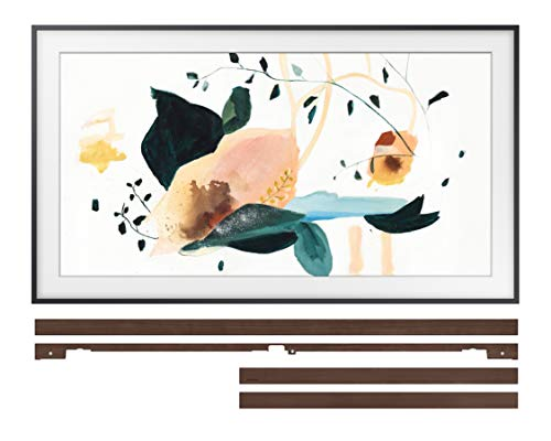 Samsung QN55LS03TA 55' The Frame 4K Ultra High Definition QLED Smart TV with a Samsung VG-SCFT55BW 55' Brown Customization Bezel for The Frame TV (2020)