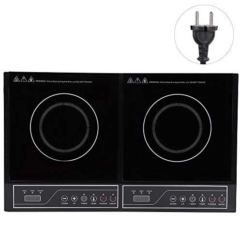 Inductiekookplaat, elektrisch, inductiekookplaat, 2 kookplaten, snel opwarmen, aanraakgevoelig, 3400 W, 220 V, voor keuken restaurant