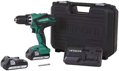 Hitachi DS18DGL 18-Volt Cordless Lithium-Ion 1/2 Inch Compact Drill Driver Kit