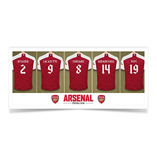 Personalised Sports & Photo Gifts Compatible with Arsenal FC Personalised Dressing Room Mug