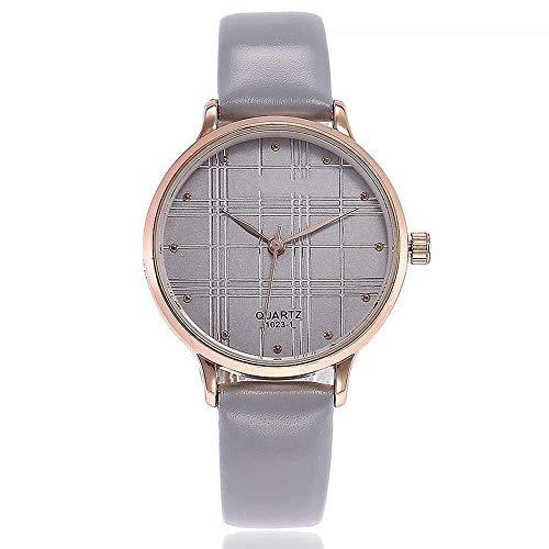 Uhren Damenuhren Watches Armbanduhren WatchFrauen Strass Uhr Mode Lederarmband Uhr Uhr Grau