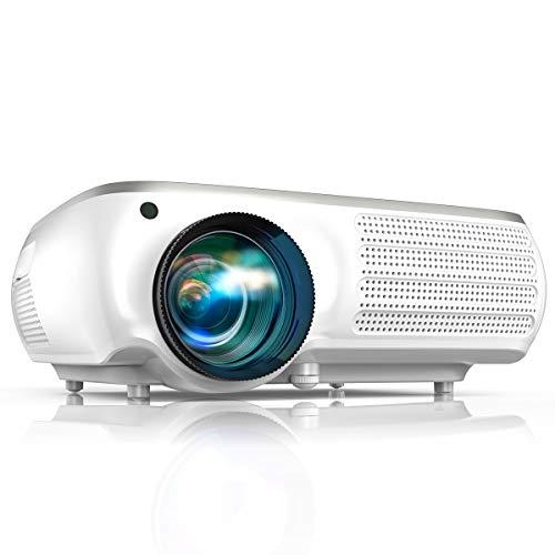 TOPTRO プロジェクター 7300lm 1920×1080リアル解像度4K対応 ±50°デジタル台形補正 輝度増強ホームシアター