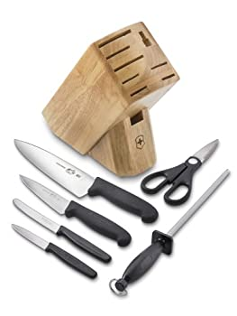 Victorinox Swiss Army Cutlery Fibrox Pro Knife Block Set 7-Piece