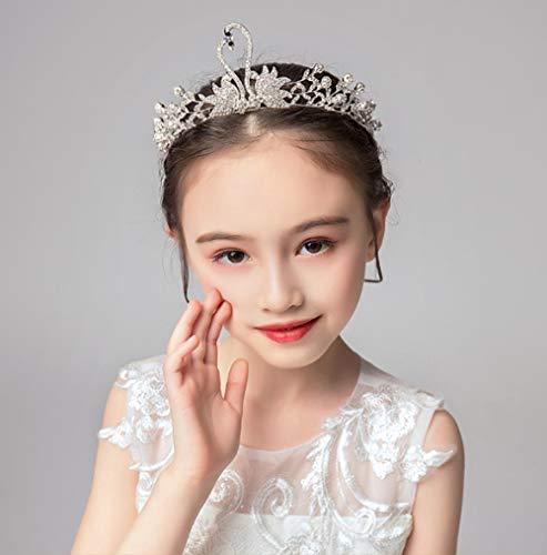 Meisjes Kroon Kinderen Haaraccessoires Strass Headdress Zilver Kroon Koreaanse Jurk Accessoires Bloemenmeisje Model Catwalk Sieraden