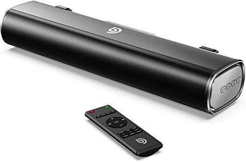 Bomaker Compact Soundbar, 50W Sound Bars for TV, 16-Inch PC Soundbar with...