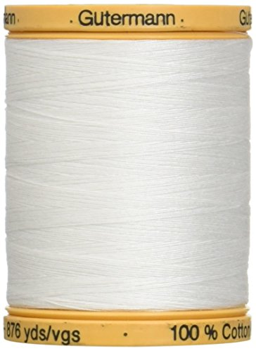 Gutermann 25049 Natural Cotton Thread Solids 876 Yards-White