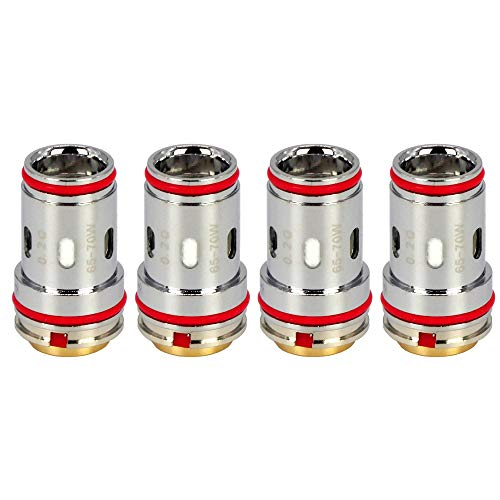 Uwell UN2-3 Mesh Coils (0,2 Ohm), Crown 5 DL Verdampferköpfe für e-Zigarette, 4 Stück