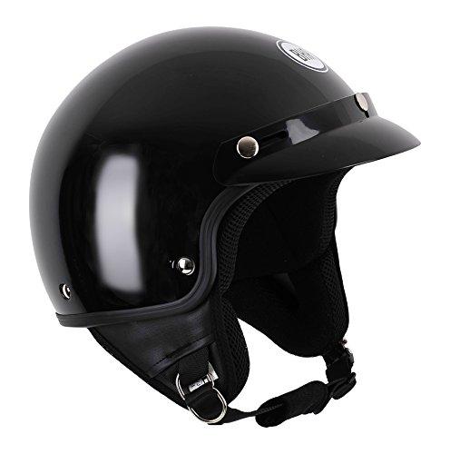 BHR 94136 Motorrad Helm Demi-Jet mit Schild 803, Schwarz Metallic, XL