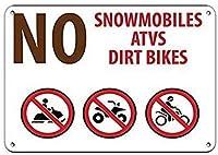 警告金属ノベルティサインアルミ、スノーモービルAtvsダートバイクキャンプ場サインティンインチzx、ティンメタルサインロードストリートサイン屋外装飾注意サイン