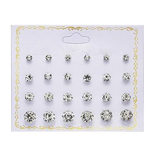 1 par / juego de pendientes de perlas de cristal simulado, accesorios de joyería para mujer, kit de pendientes de bola de perforación