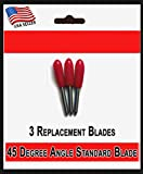 Bridge Cutters 3 Pack Blades - Replacement Fine Point Standard Cutting Blade 45 Degree Angle Type Compatible Cricut Air Explore Expression Mini Creation Cutting Scrapbook Craft Machines