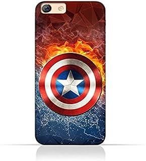 Oppo F3 TPU Silicone Protective Case with Shield of Captain America Design