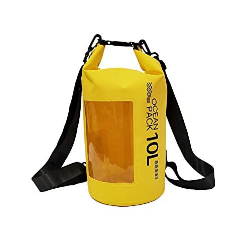 duoying Mochila impermeable bolsa seca, bolsa impermeable para deportes al aire libre al aire libre 10L bolsa de deriva para kayak, pesca rafting natación