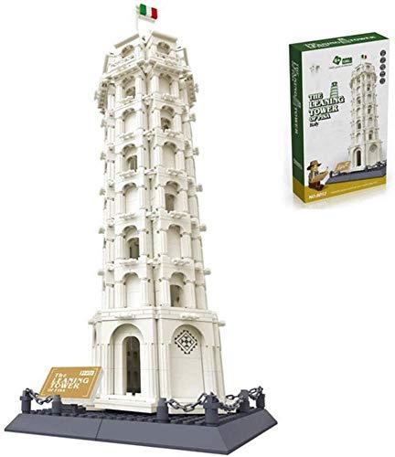YZHM Bloque de construcción KAIFH, Bloque de construcción Torre Inclinada de Pisa 1392 + PCS Nano Mini Blocks DIY Juguetes, Puzzle 3D DIY Juguete Educativo, Multicolor