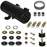 Caltric compatible with Complete Exhaust Muffler Silencer And Kit Polaris Sportsman 500 4X4 1996-2001