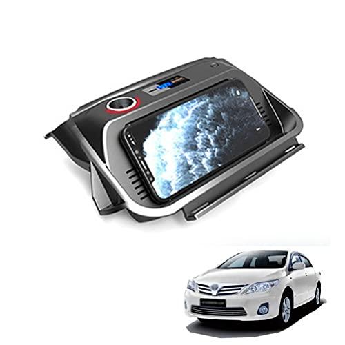 AutomóVil Cargador InaláMbrico para Toyota Corolla 2019 2020 2021 Panel de Accesorios de La Consola Central, 10w 3 bobinas Qi Smartcarga InduccióN RáPida Almohadilla para Iphone 11/Xs/Xr/8 Samsung