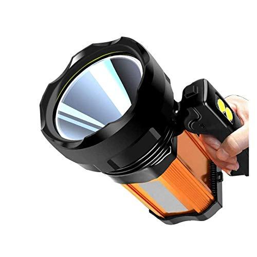 ELXSZJ XTZJ Spotlight LED de Mano, luz de búsqueda Recargable de Alta Potencia Lumenspotlight 5 Modos de iluminación Libre de búsqueda Lleno de Mano de Mano con Salida USB