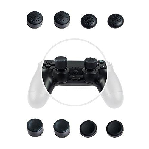 GAMINGER Juego de 8 protectores de palancas de Control Dualshock de PlayStation 4 PS4 -...