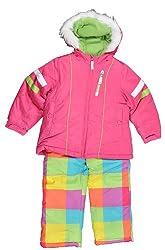 London Fog Girls Pink & Multi Color 2pc Snow Suit