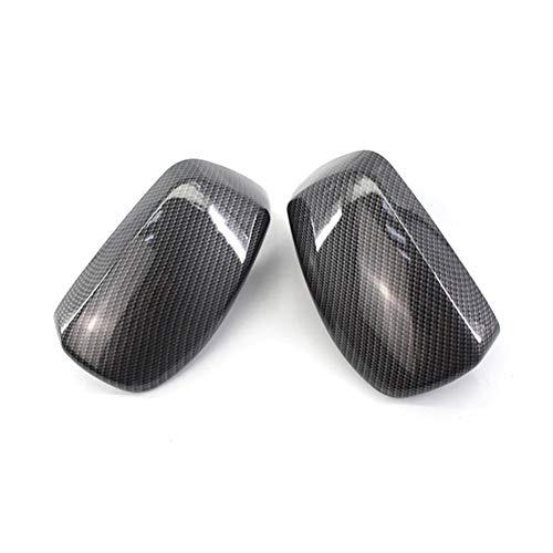 VIKEP Fibra De Carbono De Marcha Atrás Espejo Espejo Retrovisor Vivienda Carcasas En Forma For El BMW Serie 5 E60 E61 E63 E64 2004-2008 5116707836 51167078359 (Color : Black)