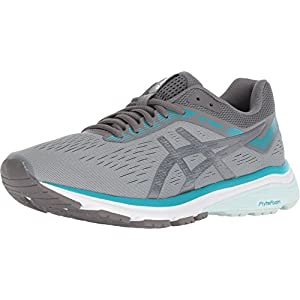 ASICS Women's GT-1000 7 Running Shoes, 8, Stone Grey/Carbon