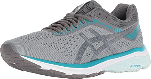 ASICS Women's GT-1000 7 (D) Running Shoes, 6.5W, Stone Grey/Carbon