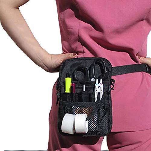 Massage-AED Bolsa De Veterinario, Estuche para Accesorios, Estuche para Herramientas con Bolsillo con Múltiples Compartimentos, Kit Práctico para La Cintura para Enfermeras