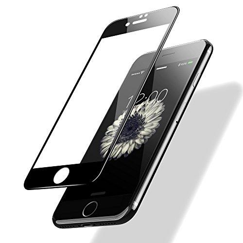 POSUGEAR Vetro Temperato, Pellicola Protettiva Compatibile per iPhone 7/8,3D Full Coverage, 9H Durezza Scratch Resistente - Nero