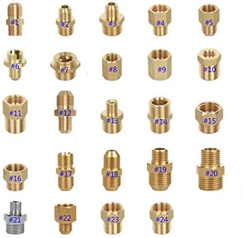 Adapter für Hochdruckreiniger, G-Gewinde ~ M-Gewinde, aus Messing, Stecker mit Außengewinde, Schlauchverschraubung, Verbindungsstück