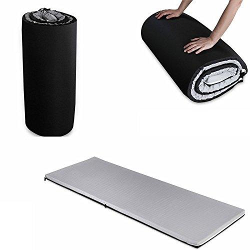 Matras voor camping, matras van traagschuim, opvouwbare matras, logeerbed, matras voor auto, camper, matras voor fitness – yoga – Pilates – gymnastiek – gemakkelijk oprolbaar