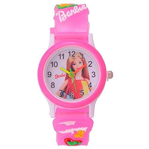 SWADESI STUFF KIDS FASHION WATCH COLLECTION Analog-Digital Girl's Watch (Multicolored Dial, Black & Pink Colored Strap) (Pack of 2)