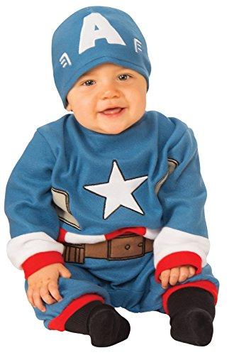 Rubie's unisex baby Baby's Marvel Captain America Romper Costume,...