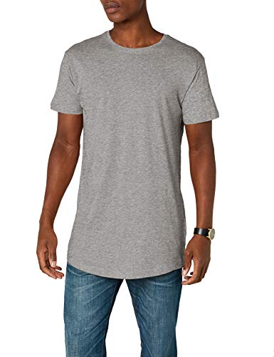 Urban Classics Herren Shaped Long Tee T-Shirt, Grau (grey), XL (Herstellergröße: XL)