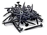 SSN 100 x Tornillos Negro Cabeza cónica de Placas de Yeso Yeso Calidad de...