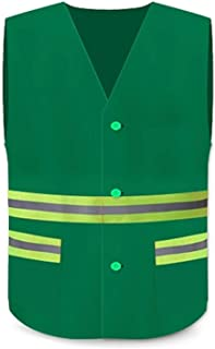 Sanitation High-bright Reflective Vest Construction Property Cleaning and Breathable Fluorescent Clothing for Men and Wome...