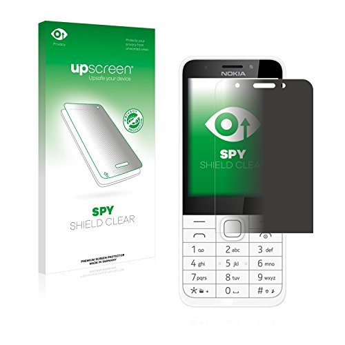 upscreen Anti-Spy Blickschutzfolie kompatibel mit Nokia 230 Privacy Screen Sichtschutz Bildschirmschutz-Folie