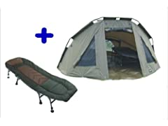 MK-Angelsport 5 Seasons 2 Man Tent Caper Tent Bivvy Dome plus ligstoel incl. rubberen hamer*