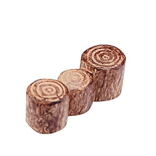 Toruiwa Micro Paysage Décoration Forme de Souche d'arbre Miniature Figurines Craft Ornements pour jardin bonsaï mousse plantes artificielles Décoration DIY