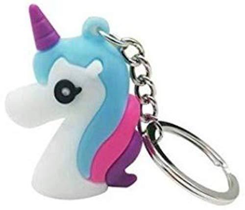Promotech Llavero mágico de unicornio para niñas.