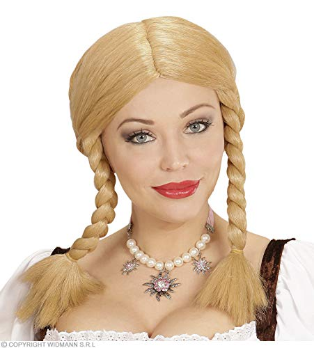 Widmann-WDMW6072 Volwassen kostuum voor dames, Blond, WDMW6072