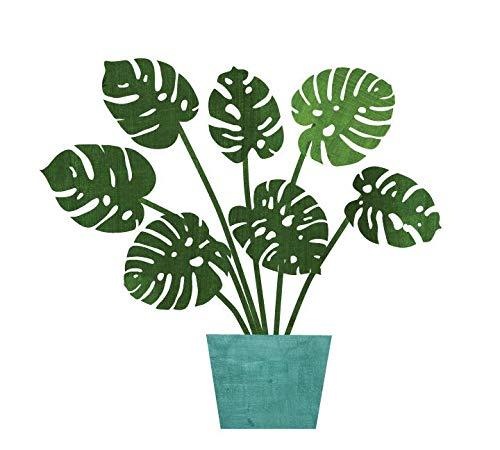 Tropische bladeren stof muurstickers aquarel palmblad monstera plant