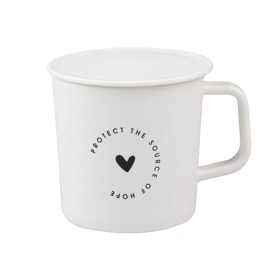 チャレンジ知覚耐えられるマグカップ コーヒーカップ 蓋付きのコップ PP製 熱に強い 割れない シンプル おしゃれ カップルカップ powlancejp