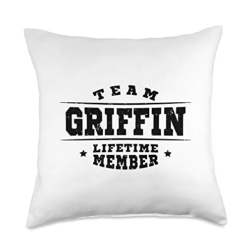 Proud Family Team Gift Items Clothing & Apparel Team Griffin Lifetime Member - Proud Family Name Surname Throw Pillow, 18x18, Multicolor