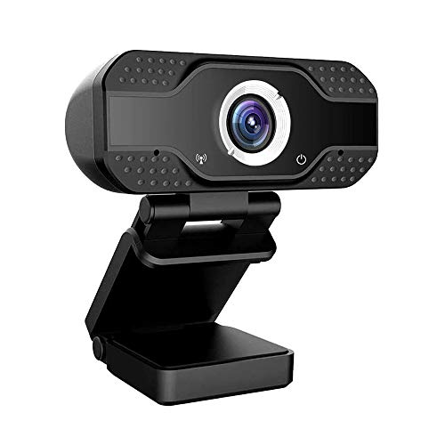 Padgene Webcam 1080P Full HD mit Mikrofon, PC Laptop Kamera Plug and Play USB Webkamera mit Einstellbarer Befestigungsclip für Videokonferenz, Streaming, Studieren, Skype, YouTube(S1 Schwarz)