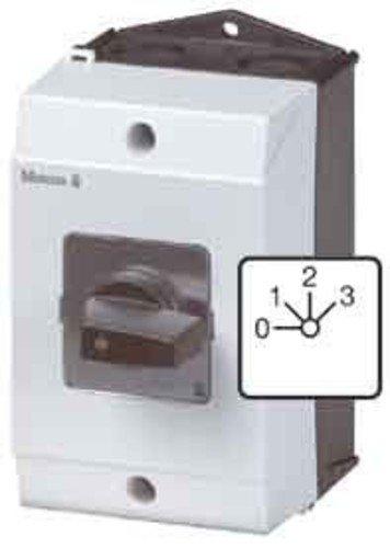 Eaton 207107 Stufenschalter, Kontakte: 3, 20 A, Frontschild: 0-3, 45 Grad, 3 Stufen 45 Grad, Rastend, Aufbau