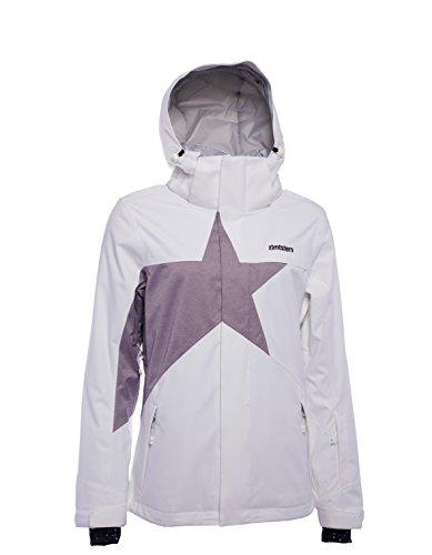 Zimtstern Damen Snowy 17 Snow Jacket, White/Plum Twotone, M