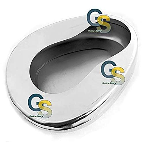 "G.S Stainless Steel Bed Pans Adult: 14"" X 11 3/8"" Best Quality"