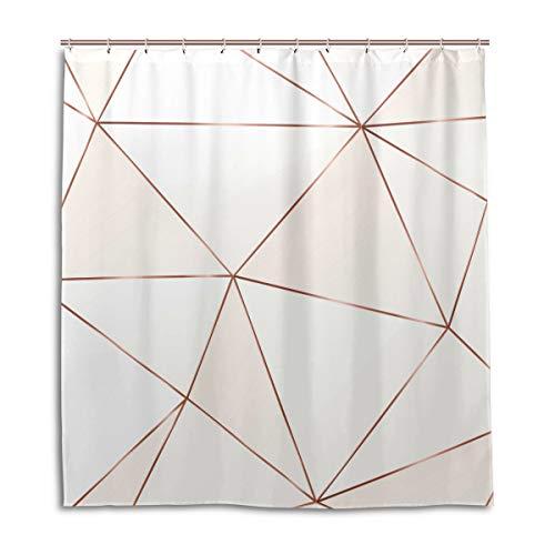 CPYang Duschvorhänge, geometrische Linien, Marmormuster, wasserdicht, schimmelresistent, 168 x 182 cm, mit 12 Haken